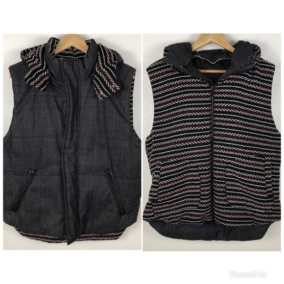 Zara Other - Zara Man Thick Heavy Reversible Hooded Vest